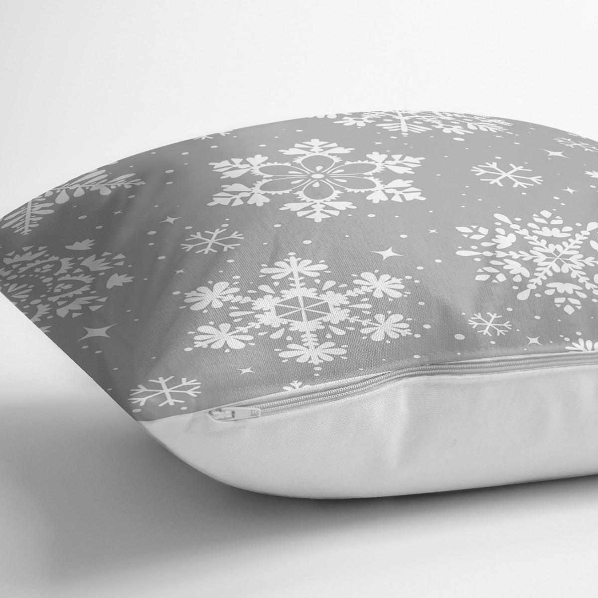 Renkli Zemin Üzerinde Beyaz Kartanesi Desenli Dijital Baskılı Modern Yastık Kılıfı Realhomes