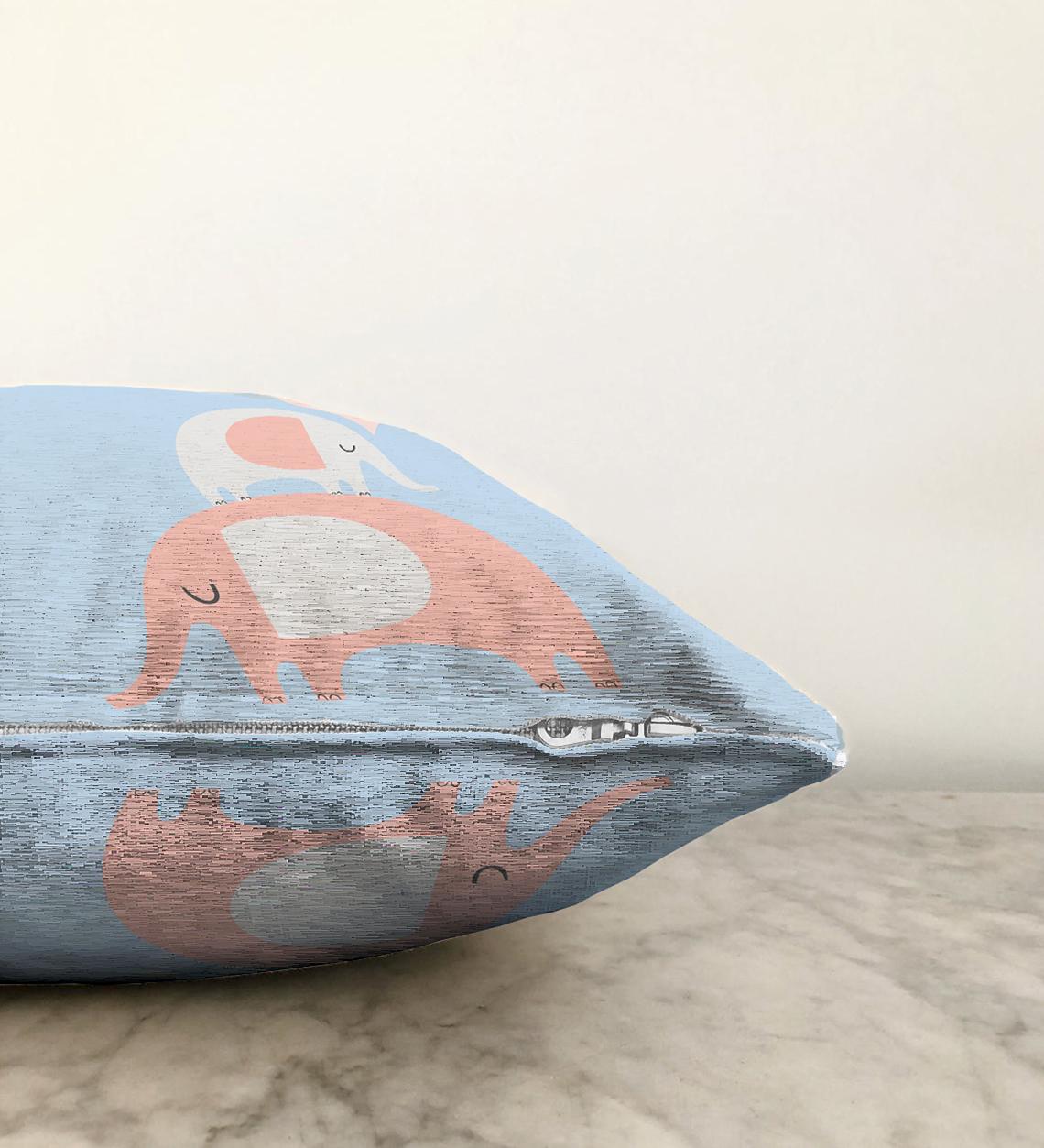 Realhomes Çift Taraflı Özel Tasarımlı Dijital Baskılı Çocuk Odası Şönil Yastık Kırlent Kılıfı - 55 x 55 cm Realhomes