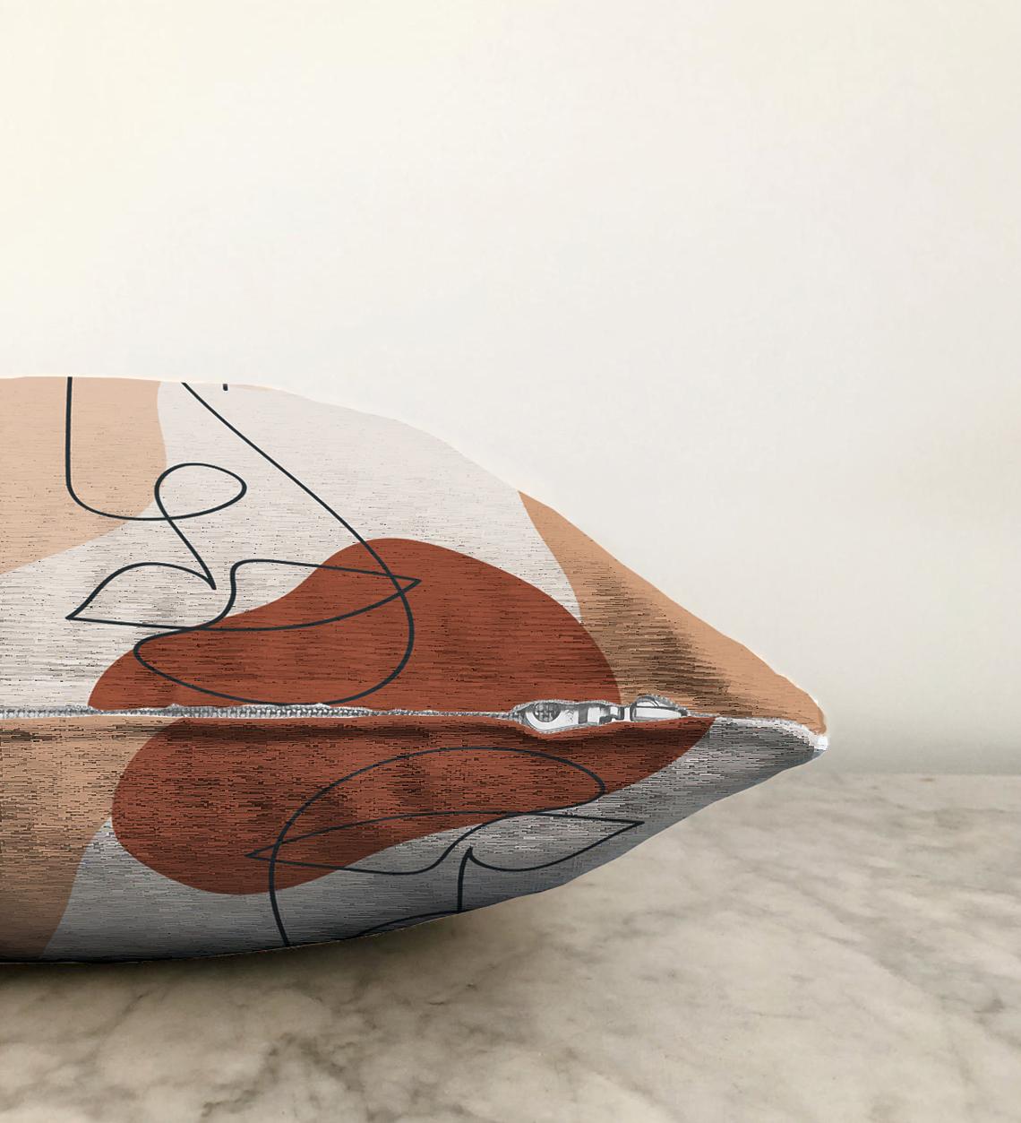 Realhomes Çift Taraflı Bohemian Özel Tasarım Dekoratif Şönil Yastık Kırlent Kılıfı - 55 x 55 cm Realhomes