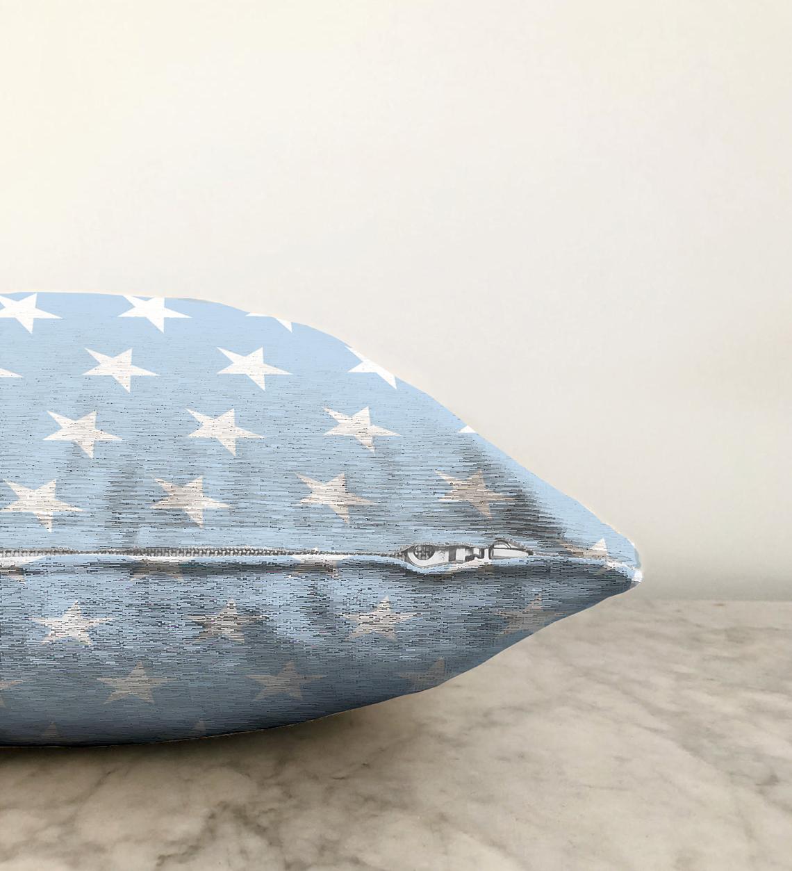 Çift Taraflı Modern Yıldız Desenli Dijital Baskılı Şönil Yastık Kırlent Kılıfı - 55 x 55 cm Realhomes