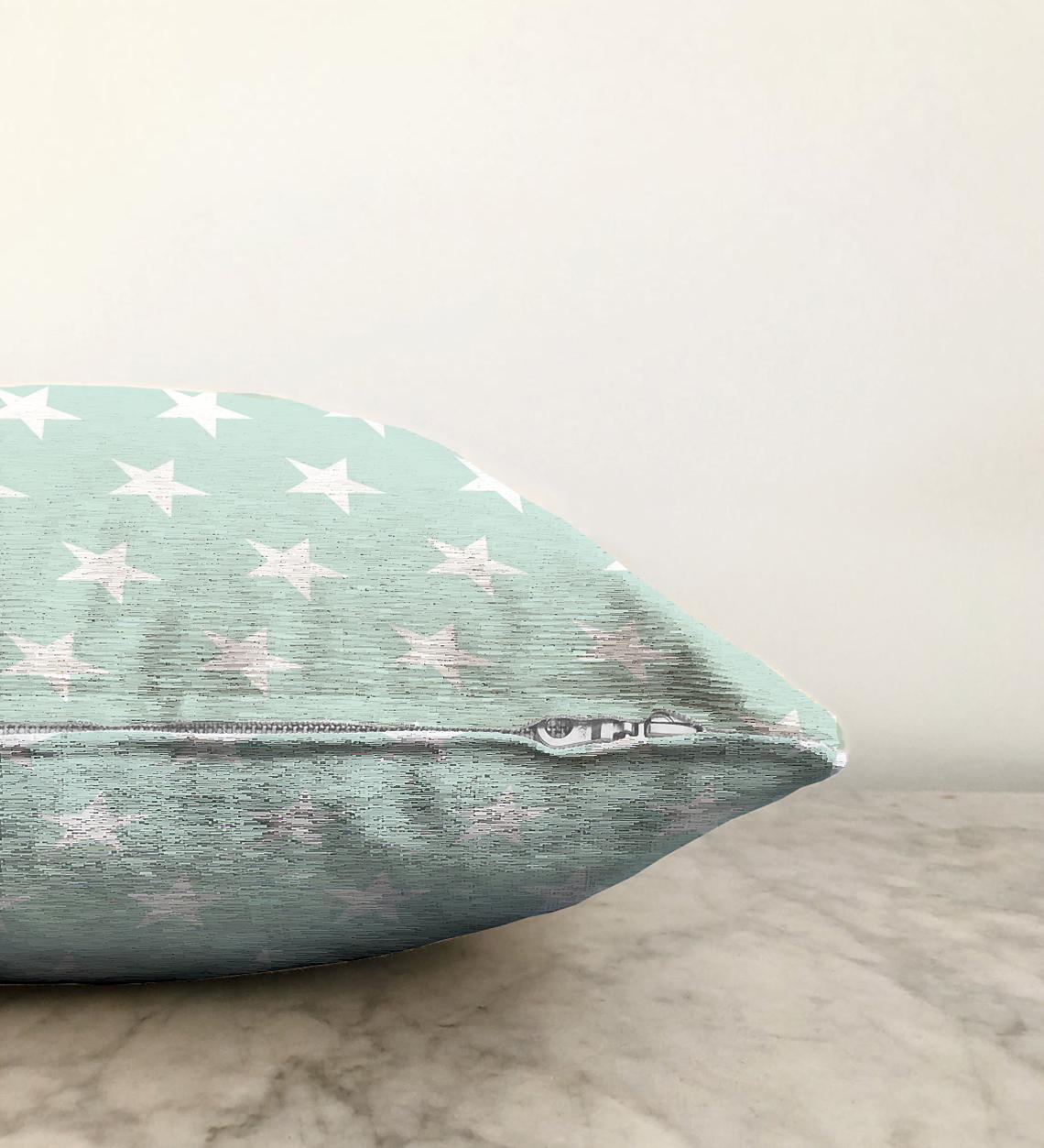 Çift Taraflı Yıldız Desen Dijital Baskılı Şönil Yastık Kırlent Kılıfı - 55 x 55 cm Realhomes
