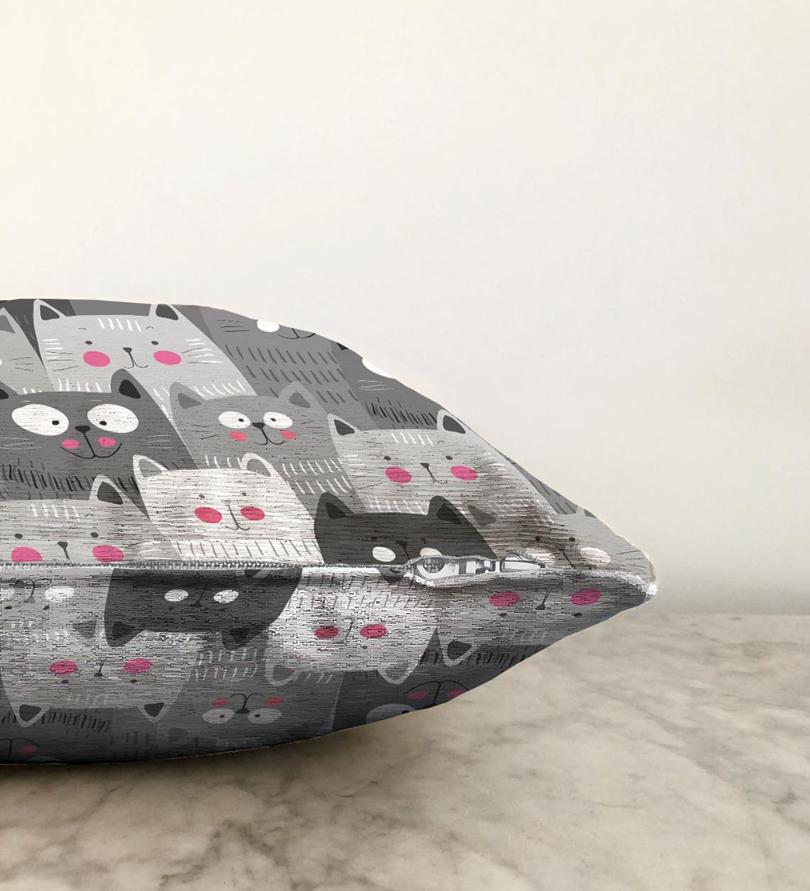 Realhomes Çift Taraflı Dijital Baskılı Şönil Yastık Kırlent Kılıfı - 55 x 55 cm Realhomes
