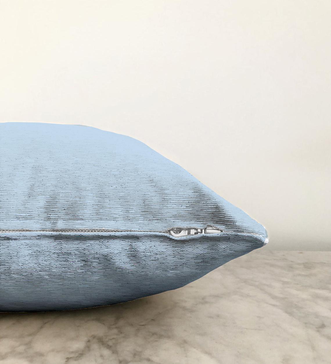 Çift Taraflı Bebek Mavi Dijital Baskılı Dekoratif Şönil Yastık Kırlent Kılıfı - 55 x 55 cm Realhomes