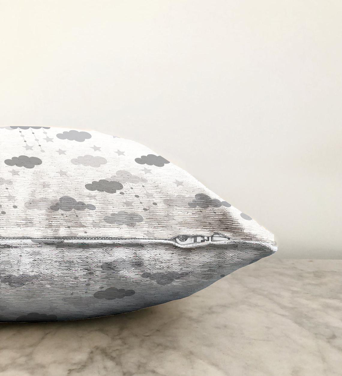 Realhomes Çift Taraflı Dijital Baskılı Dekoratif Şönil Yastık Kırlent Kılıfı - 55 x 55 cm Realhomes