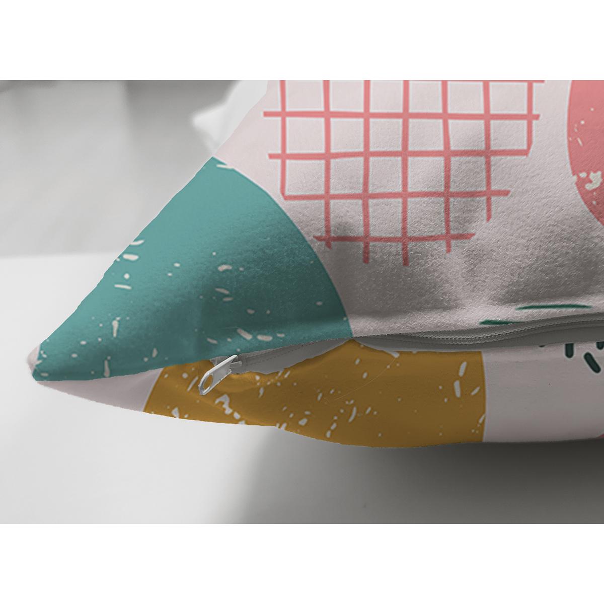 Çift Taraflı Sanatsal Modern Tasarımlı Dijital Baskılı Modern Süet Yastık Kırlent Kılıfı Realhomes