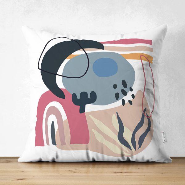 Çift Taraflı Soft Zemınde Bayan Silüet Çizimli Dijital Baskılı Modern Süet Yastık Kırlent Kılıfı Realhomes