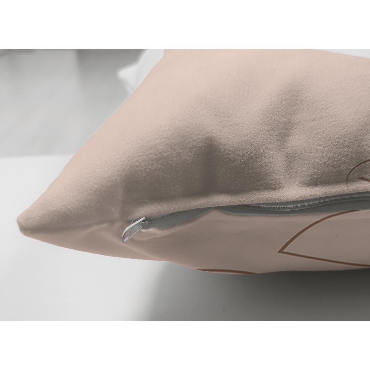 Çift Taraflı Pastel Renkli Yaprak Motifli Dijital Baskılı Modern Süet Yastık Kırlent Kılıfı Realhomes