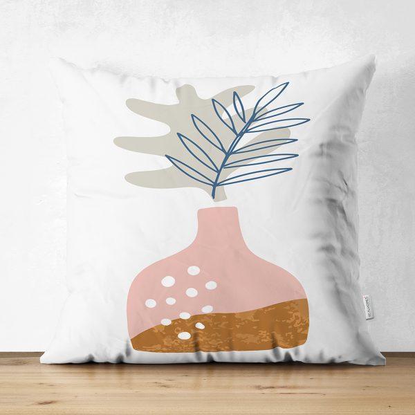 Çift Taraflı Pastel Renkli Zeminli Onedraw Çizimli Dijital Baskılı Modern Süet Yastık Kırlent Kılıfı Realhomes