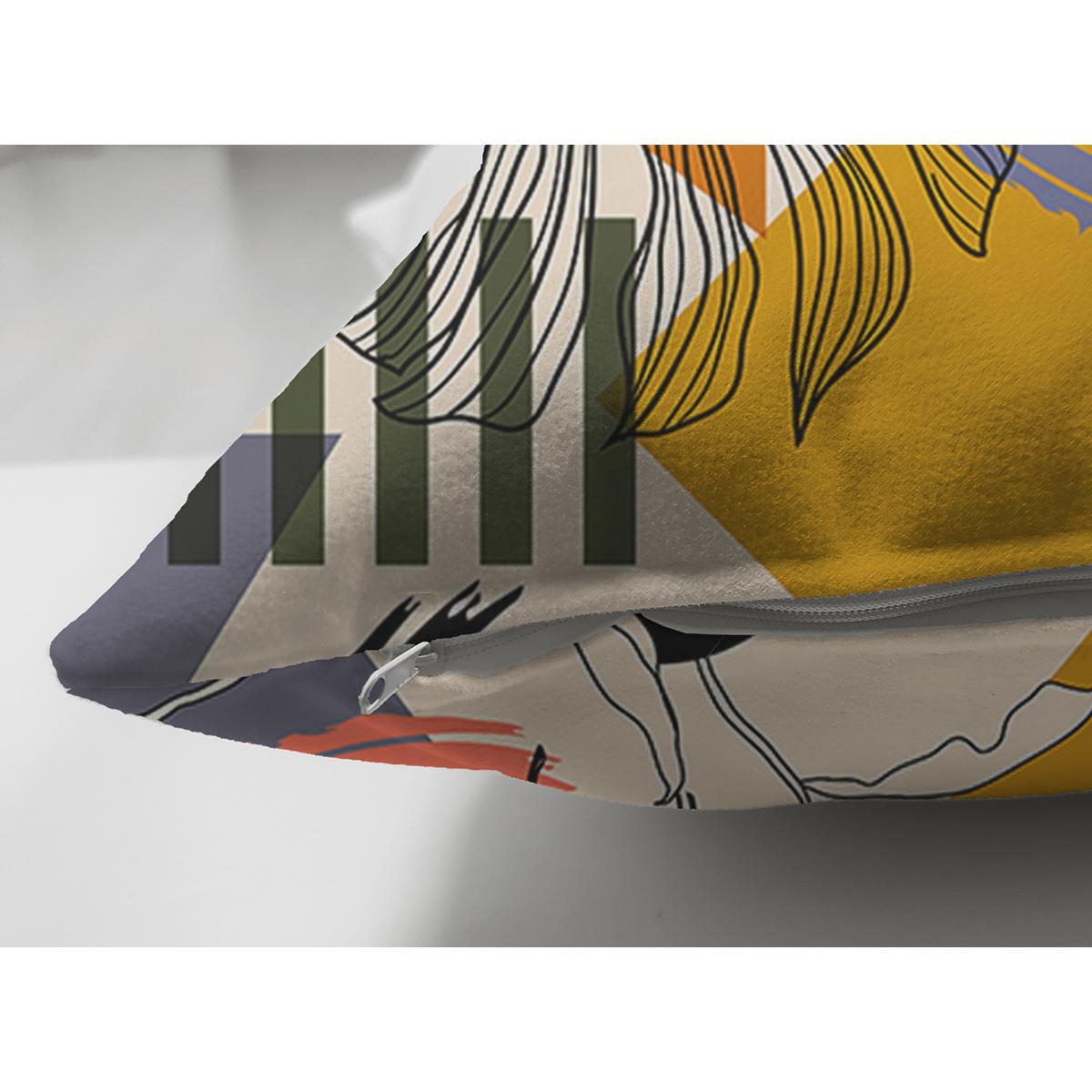 Çift Taraflı Pastel Zemin Üzerinde Renkli Puantiye Desenli Dijital Baskılı Modern Süet Yastık Kılıfı Realhomes