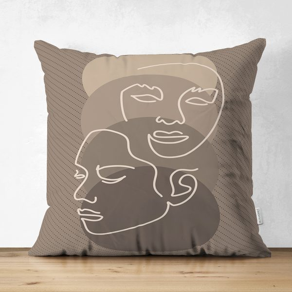 Çift Taraflı Beyaz Zemin Üzerinde Siyah Puantiyeli Kaktüs Desenli Süet Yastık Kırlent Kılıfı Realhomes
