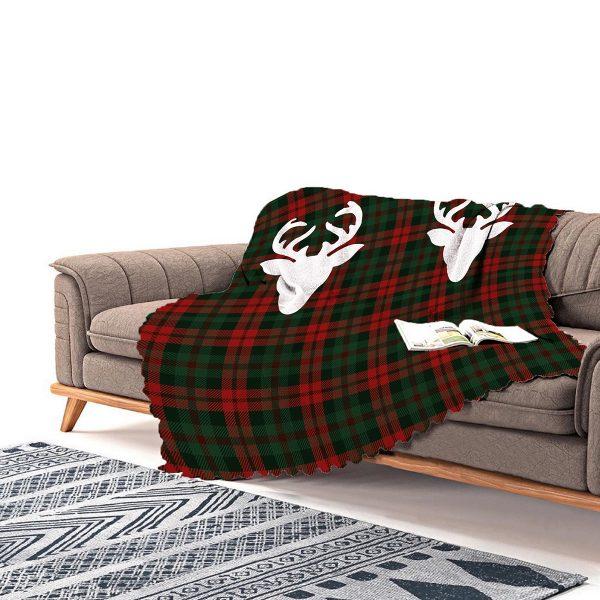 Realhomes Siyah Zeminde Sweet Holiday Tasarımlı Dijital Baskılı Şönil Koltuk Şalı Realhomes