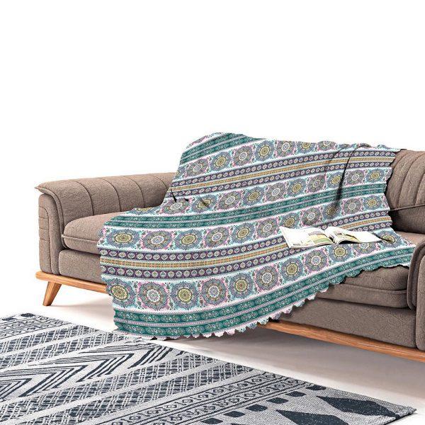 Realhomes Real Homes Dijital Baskılı Modern Şönil Koltuk Örtüsü Realhomes