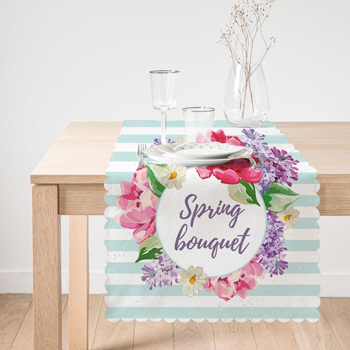 Spring Bouquet Temalı Modern Dijital Baskılı Runner Realhomes