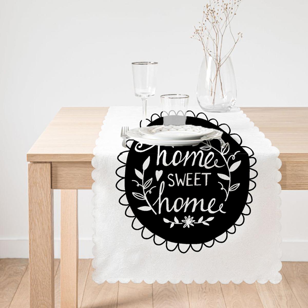 Home Sweet Home Tasarımlı Dekoratif Runner Realhomes