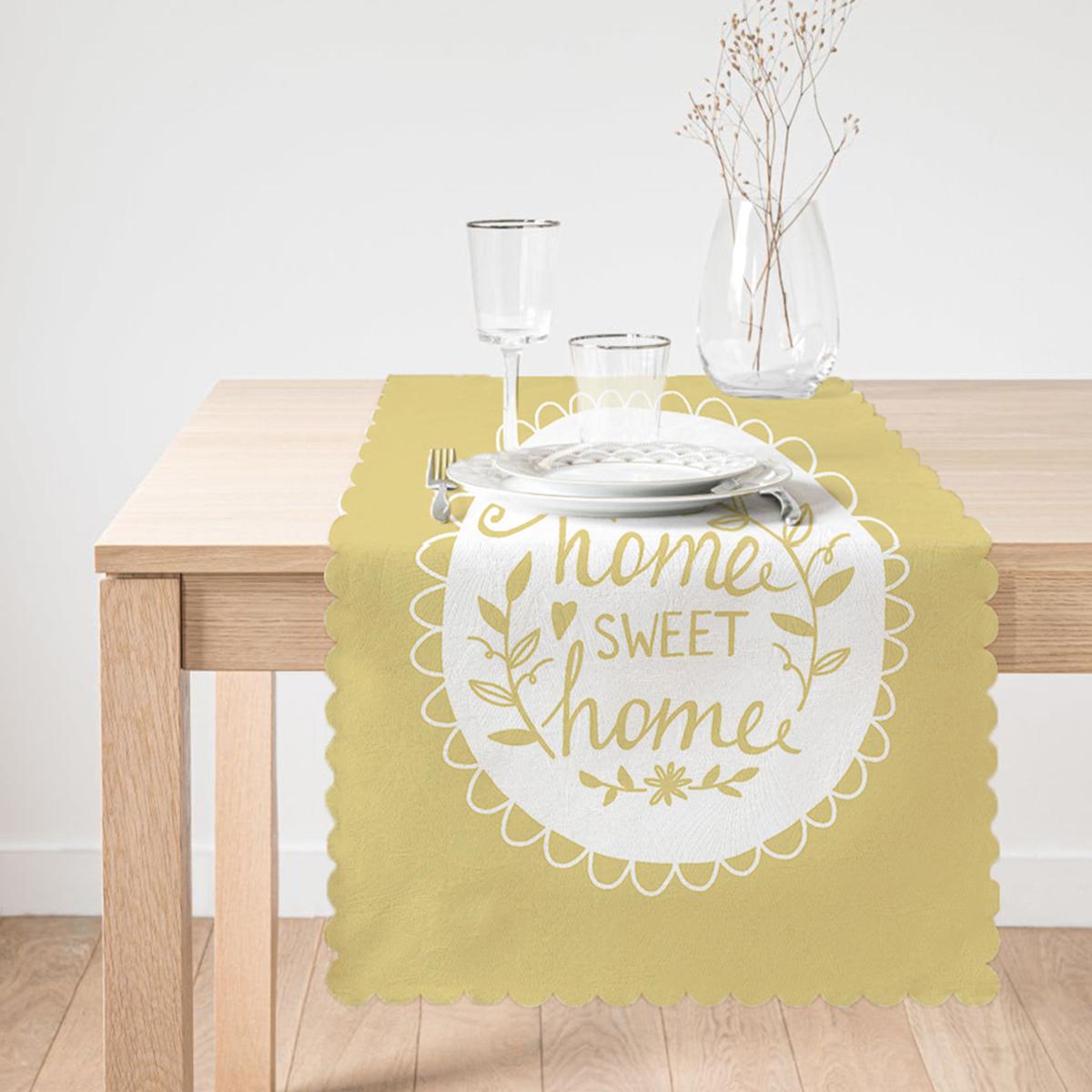 Home Sweet Home Dijital Baskılı Dekoratif Runner Realhomes