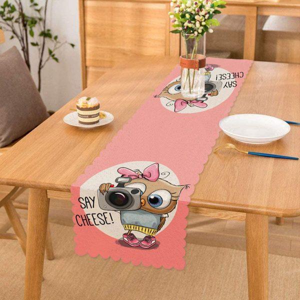 Sevimli Kediler Dijital Baskılı Dekoratif Runner Realhomes