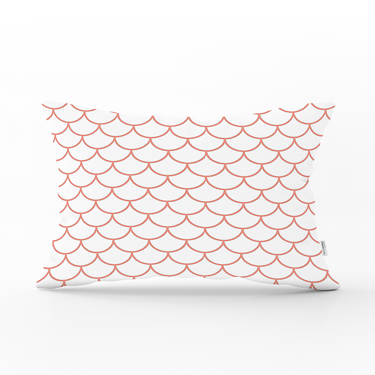 Mürdüm Renkli Geometrik Desenli Dijital Bakılılı Dikdörtgen Yastık Kılıfı Realhomes