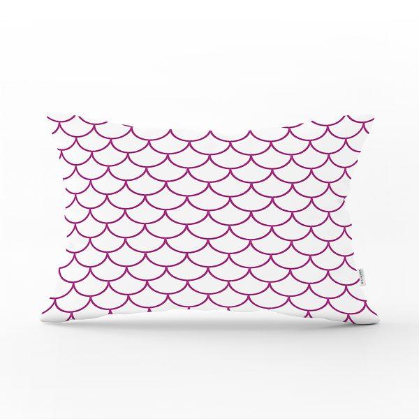 Mor Geometrik Desenli Dijital Baskılı Dekoratif Dikdörtgen Yastık Kılıfı Realhomes