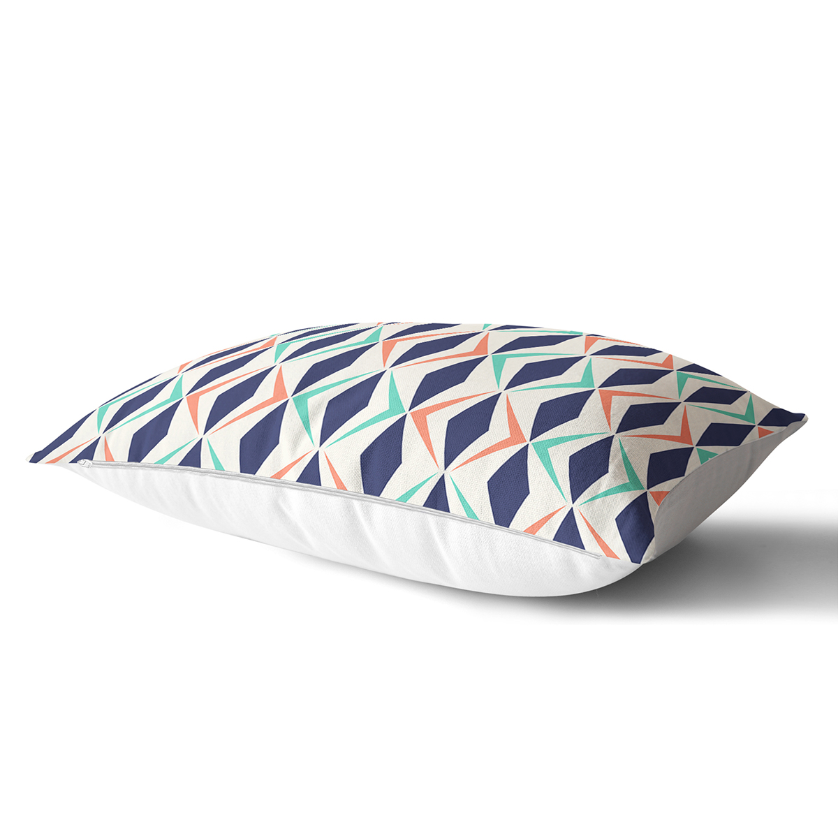 Renkli Geometrik Desenli Dijital Baskılı Modern Dikdörtgen Yastık Kılıfı Realhomes