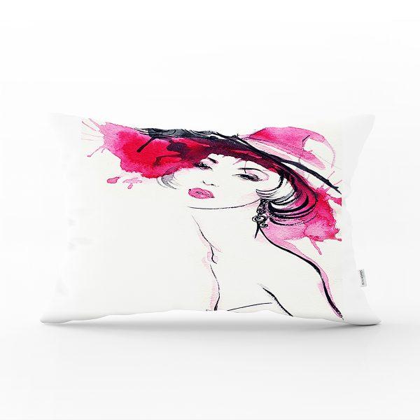 Gökkuşağı Motifli Renkli Çiçekli Özel Tasarım Dikdörtgen Kırlent Kılıfı Realhomes