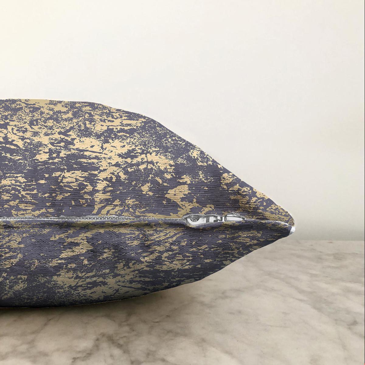 Çift Taraflı Koyu Renkli Gradyan Desenli Dijital Baskılı Modern Şönil Yastık Kırlent Kılıfı Realhomes
