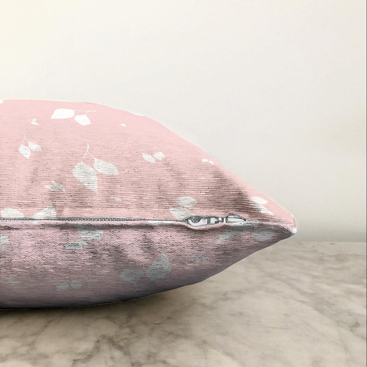 Çift Taraflı Pastel Zeminli Renkli Çiçek Desenli Dijital Baskılı Modern Şönil Yastık Kırlent Kılıfı Realhomes