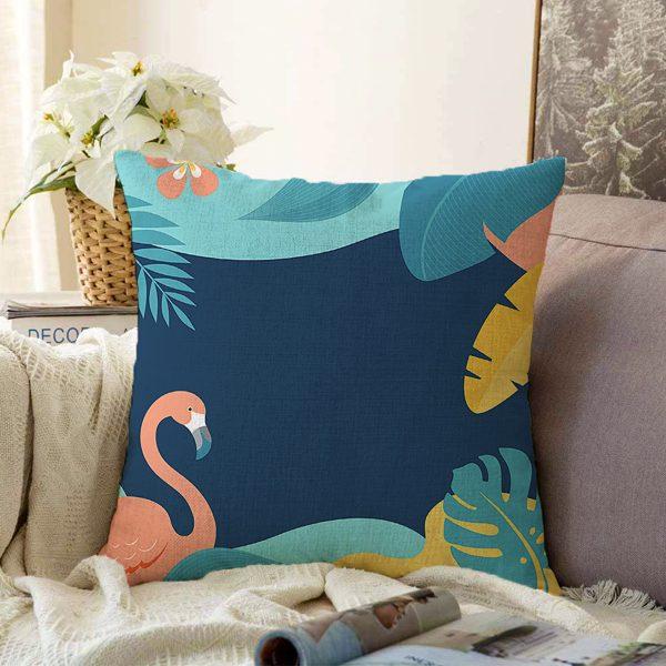 Çift Taraflı Beyaz Zemin Üzerinde Pastel Renkli Ananas Desenli Modern Şönil Yastık Kırlent Kılıfı Realhomes