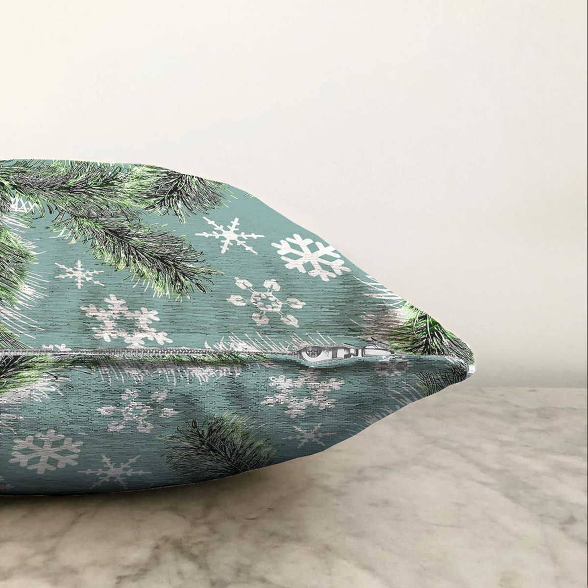 Çift Taraflı Renkli Zeminli Kartanesi Desenli Dijital Baskılı Modern Şönil Yastık Kırlent Kılıfı Realhomes