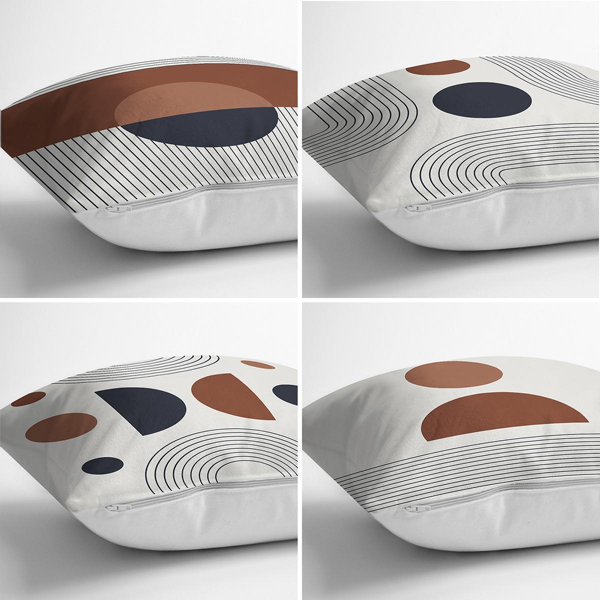 4'lü Özel Tasarım İskandinav Motifli Dijital Baskılı Modern Kırlent Kılıfı Seti Realhomes