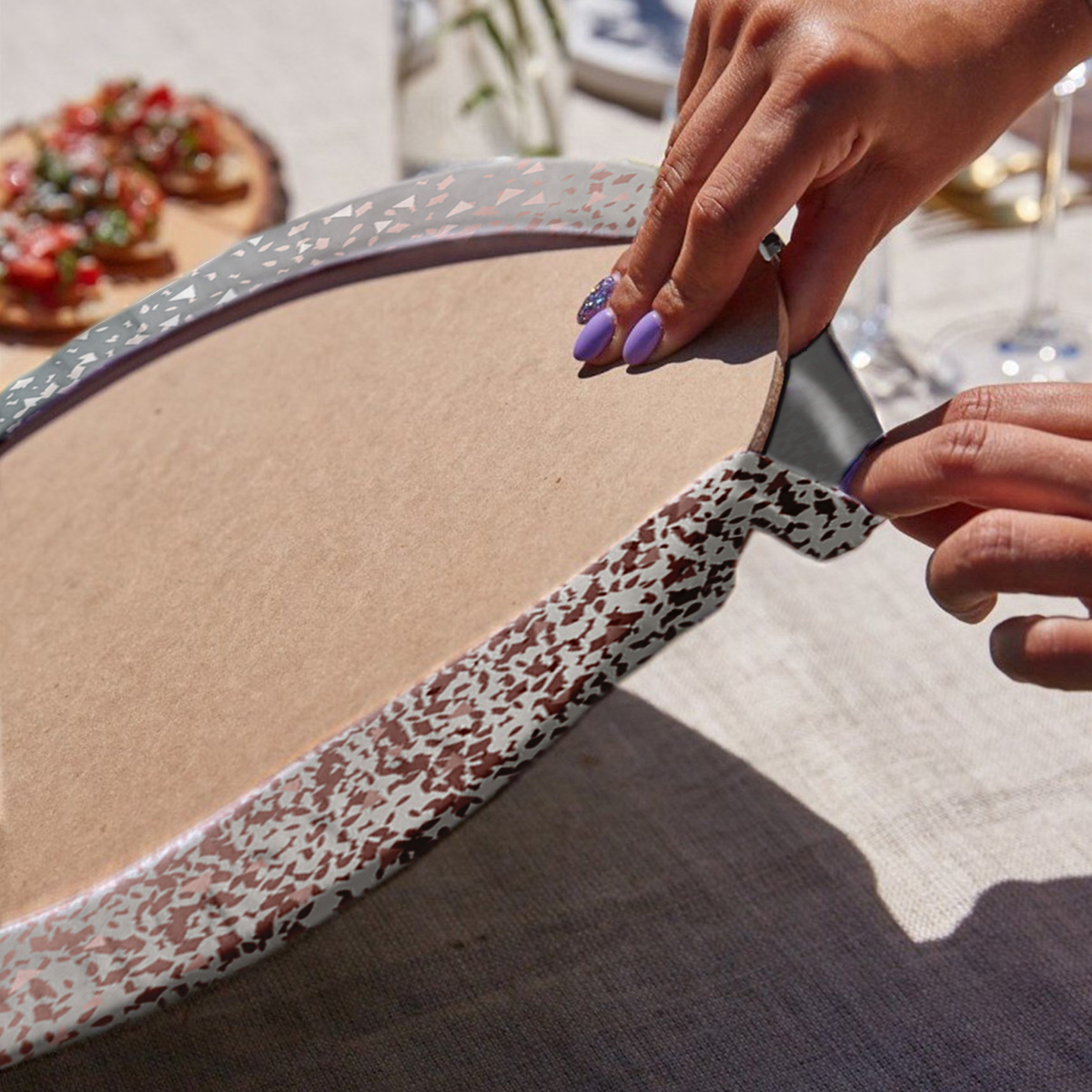 6'lı Pastel Renkli Soyut Özel Tasarımlı Servis Altlığı & Supla Realhomes