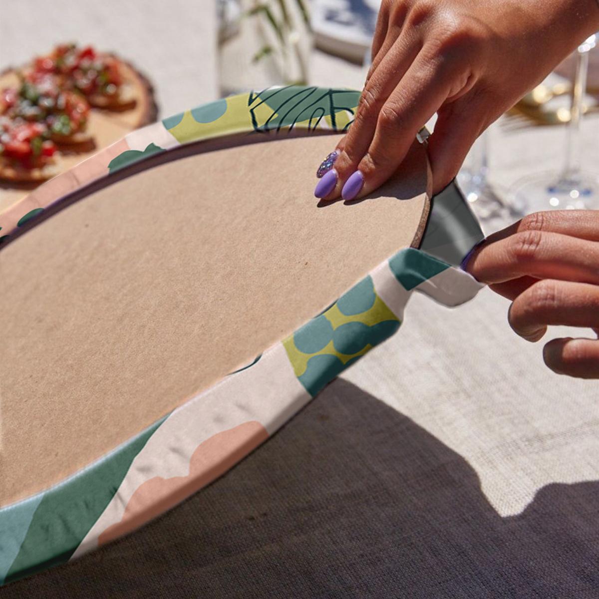 6'lı Pastel Renkli Özel Tasarım Servis Altlığı & Supla Realhomes