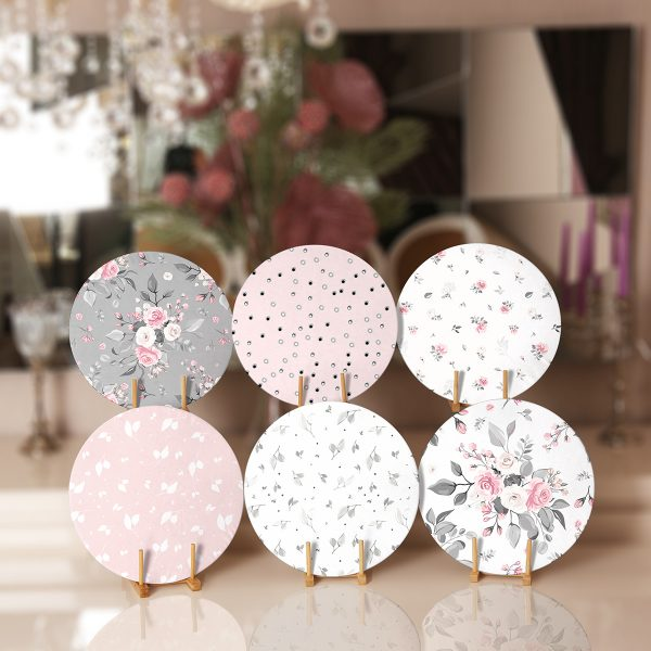 6'lı Soft Renkli Çiçek Tasarımlı Servis Altlığı & Supla Realhomes