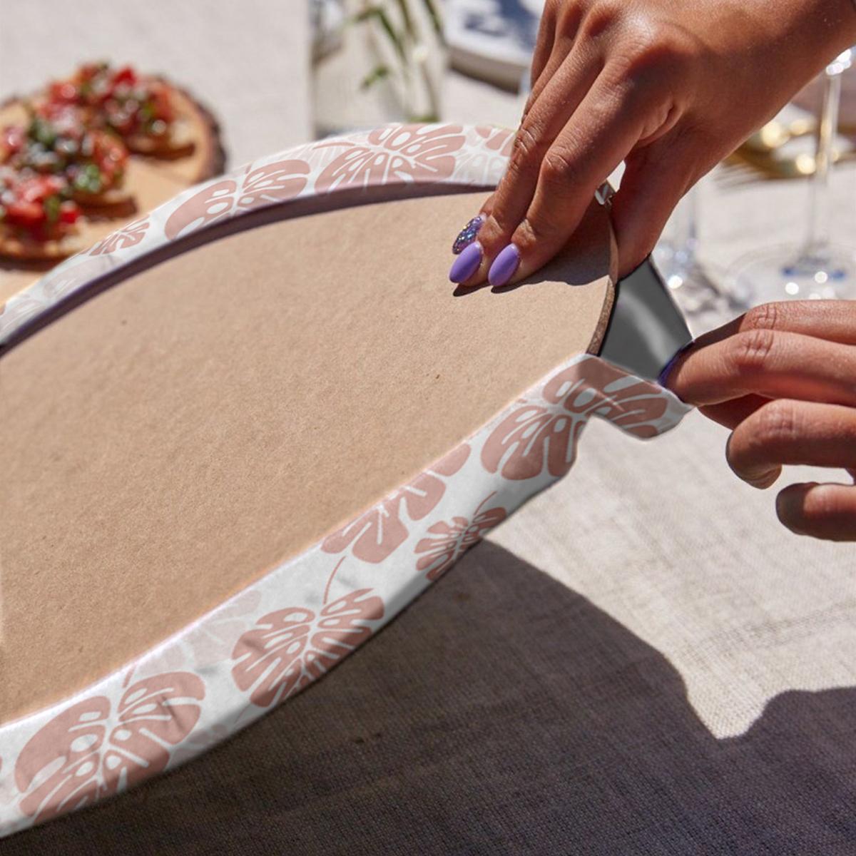 6'lı Soft Renkli Yaprak Tasarımlı Servis Altlığı & Supla Realhomes